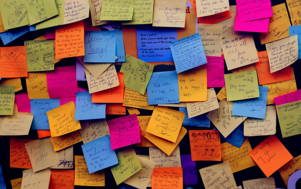 How to create mental space using sticky notes!